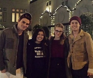 lili reinhart, betty cooper, and kj apa image