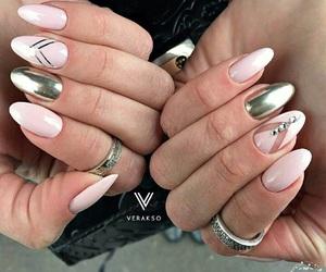 manicure, pink, and ногти image