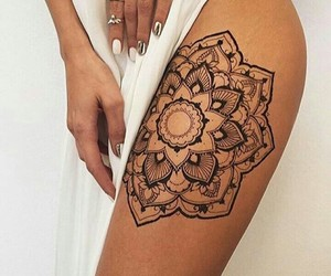 tattoo, mandala, and nails image