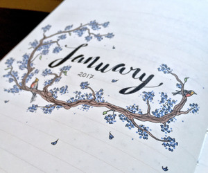 art, beautiful, and january journal image