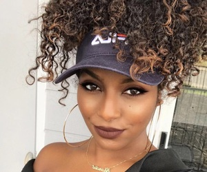 makeup, beauty, and curls image