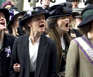 feminism, suffragette, and girlspower image