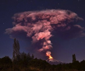 volcano, eruption, and chile image