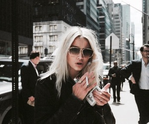 girl, cigarette, and style image