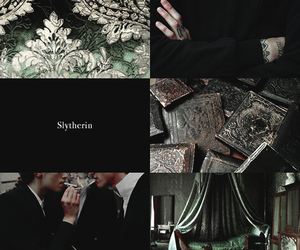 green, hogwarts, and house image