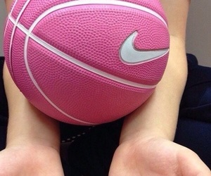 Basketball, nike, and pink image