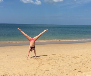 beach, gymnastic, and summer image
