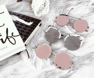fashion, pink, and sunglasses image