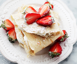 food, diet, and strawberry image