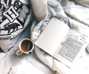 book, coffee, and cosy image