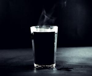 blac, coffee, and black image
