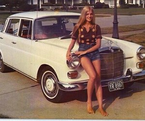 70s, car, and girl image