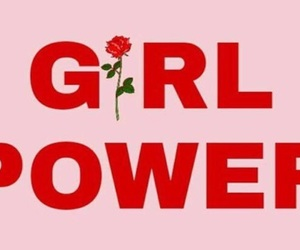 girl, power, and text image