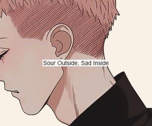 boy, redhead, and sad image