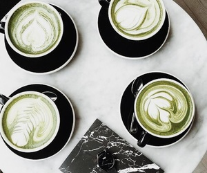 green and coffee image