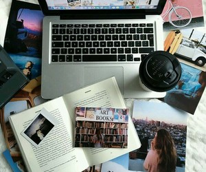photography, book, and coffee image