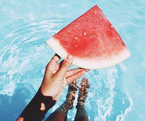 summer, watermelon, and fruit image