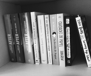 after, black & white, and book image