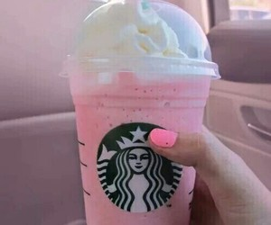 starbucks, pink, and drink image