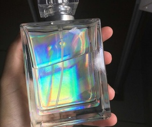 holographic, perfume, and rainbow image