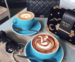 coffee, style, and Prada image
