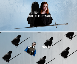 arya stark, game of thrones, and sansa stark image