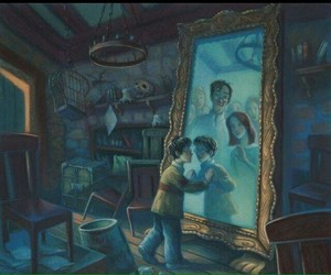 harry potter, book, and mirror image