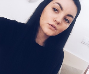 black, girl, and brunette image