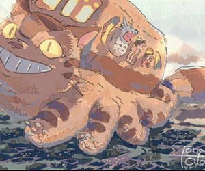 catbus, ghibli, and My Neighbor Totoro image