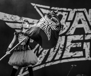 black and white, flag, and concert image