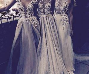 dress, model, and wedding dress image