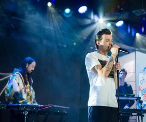 beautiful, steve aoki, and louis tomlinson image