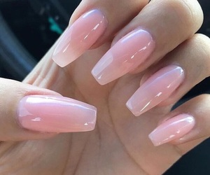 classy, pink, and nails image