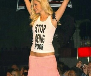 paris hilton, poor, and funny image