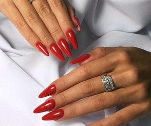 jewelry, nails, and red image
