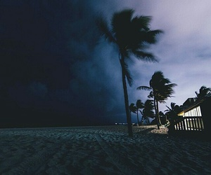 beach, storm, and night image