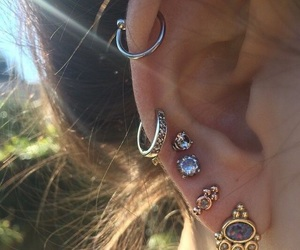 ear, earrings, and jewelry image