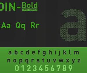 font, type, and din-bold image