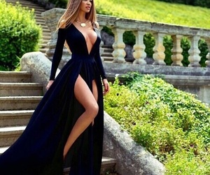 black, blonde, and dress image