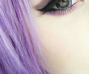 hair, purple, and eyes image