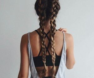 back, brown, and braids image
