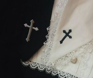 black, white, and cross image