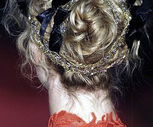 back, bow, and hair image