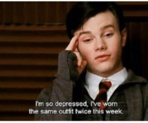 glee, depressed, and funny image