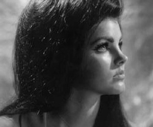 priscilla presley, black and white, and vintage image