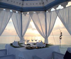beach, luxury, and romantic image