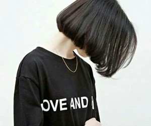 fashion, korean, and short hair image