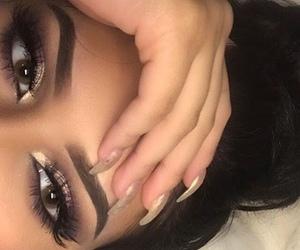 eyebrows, style, and eyelashes image