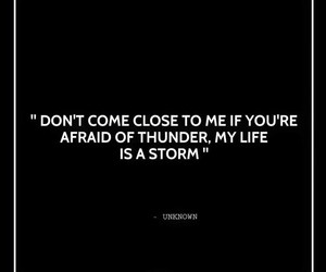 quotes, storm, and warning image