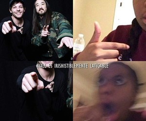 1d, chiste, and louis tomlinson image